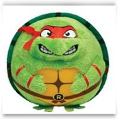 Beanie Ballz Raphael Red Mask Plush